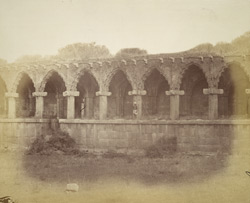Façade of the 'Treasury' or Hall of Audience (or possibly Guards' Quarters), Vijayanagara